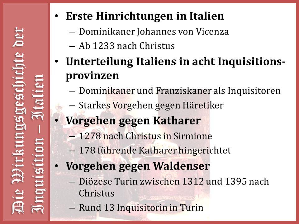 Die Wirkungsgeschichte der Inquisition – Italien