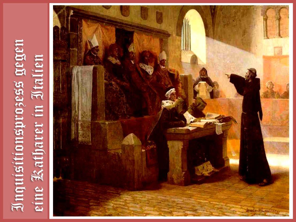 Inquisitionsprozess gegen eine Katharer in Italien