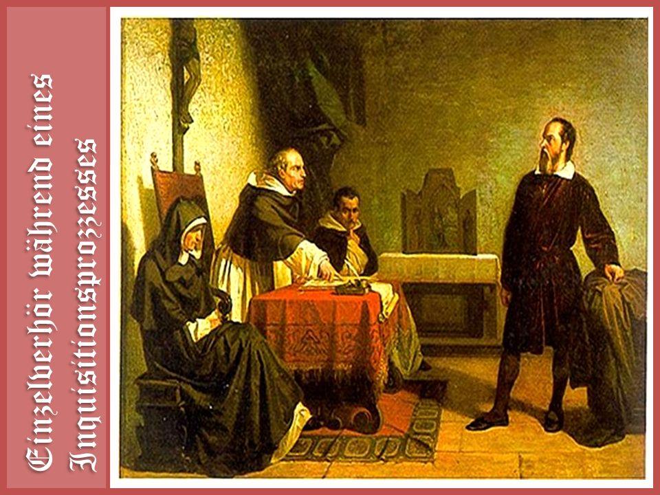 Einzelverhör während eines Inquisitionsprozzesses