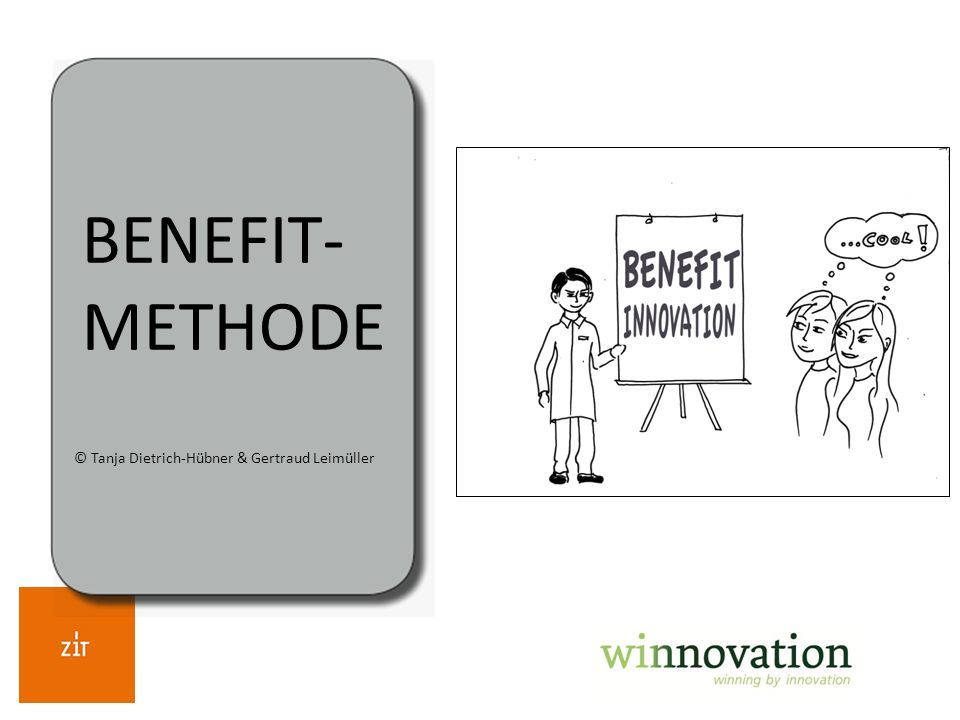 BENEFIT- METHODE © Tanja Dietrich-Hübner & Gertraud Leimüller