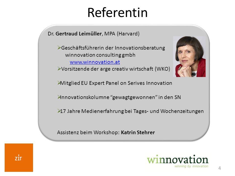 Referentin Dr. Gertraud Leimüller, MPA (Harvard)