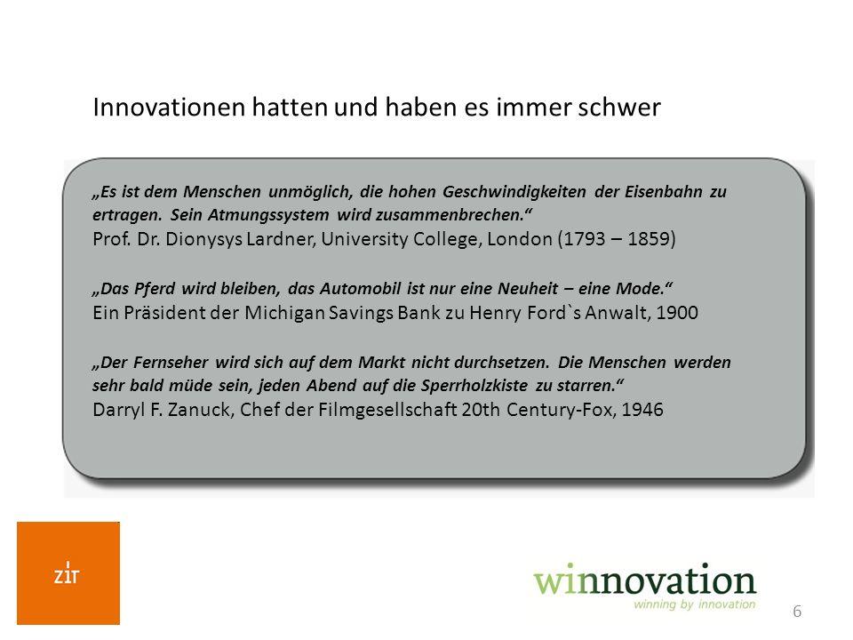Innovationen hatten und haben es immer schwer