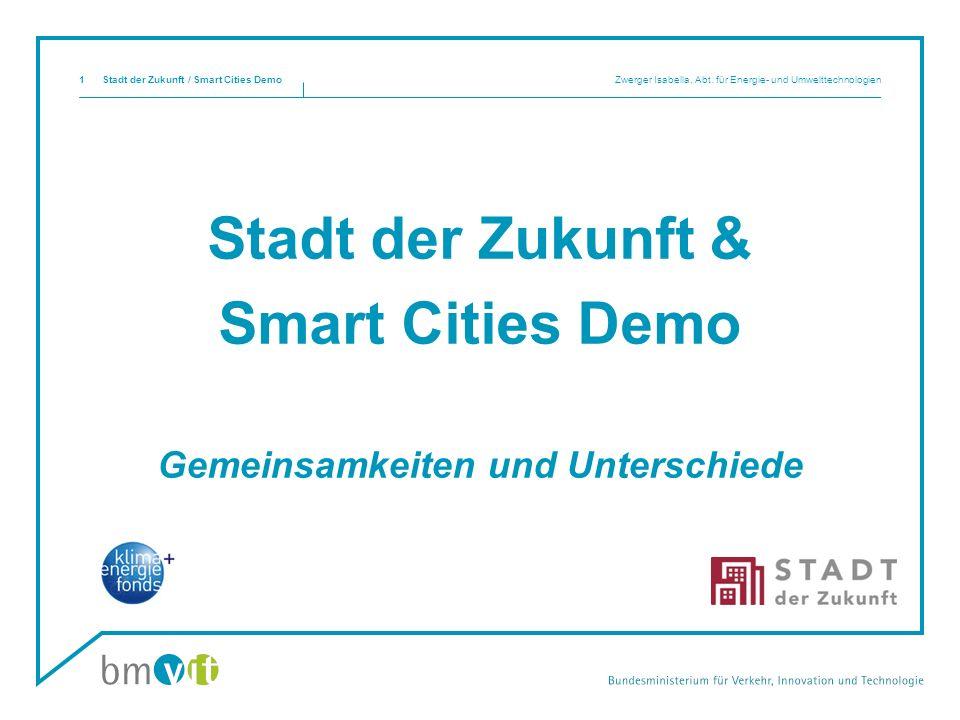 Stadt der Zukunft & Smart Cities Demo Gemeinsamkeiten und Unterschiede