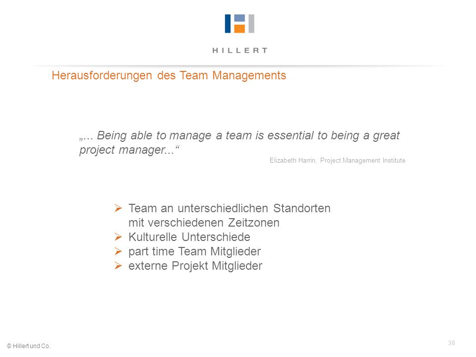 Herausforderungen des Team Managements