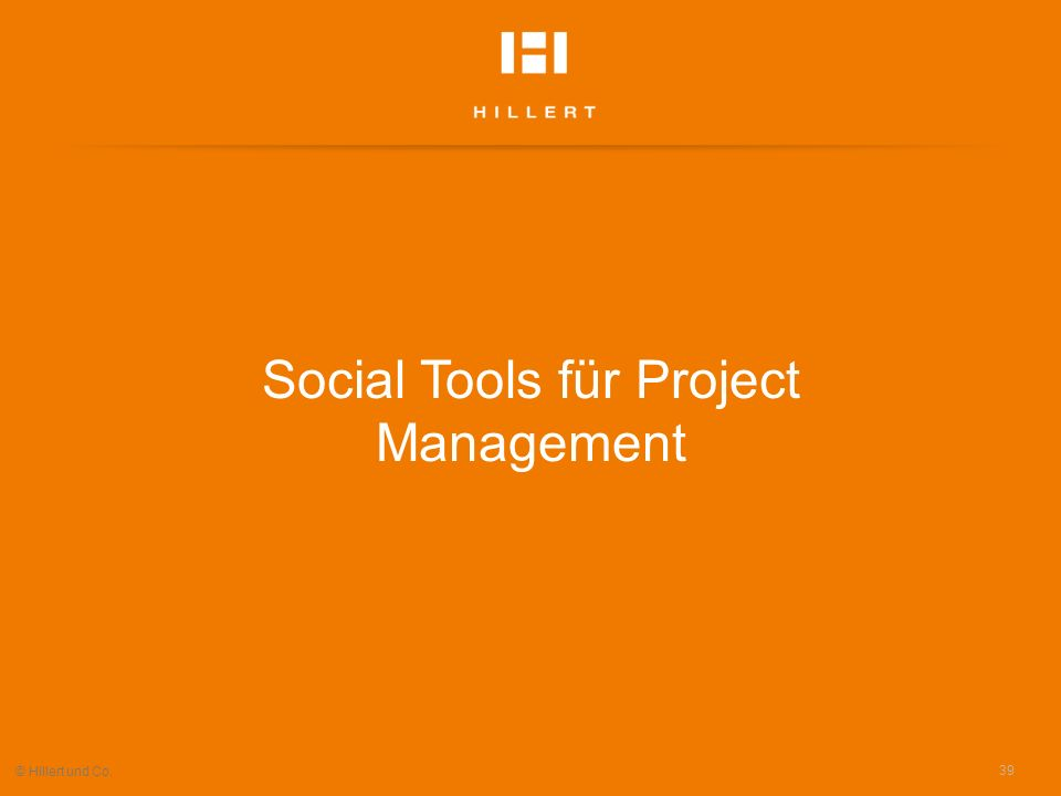 Social Tools für Project Management
