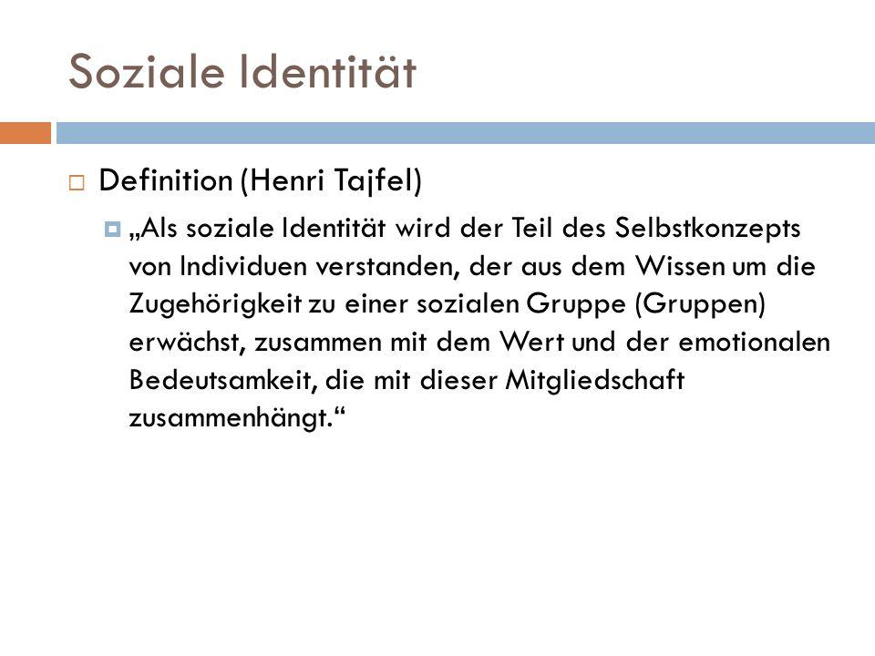 Soziale Identität Definition (Henri Tajfel)