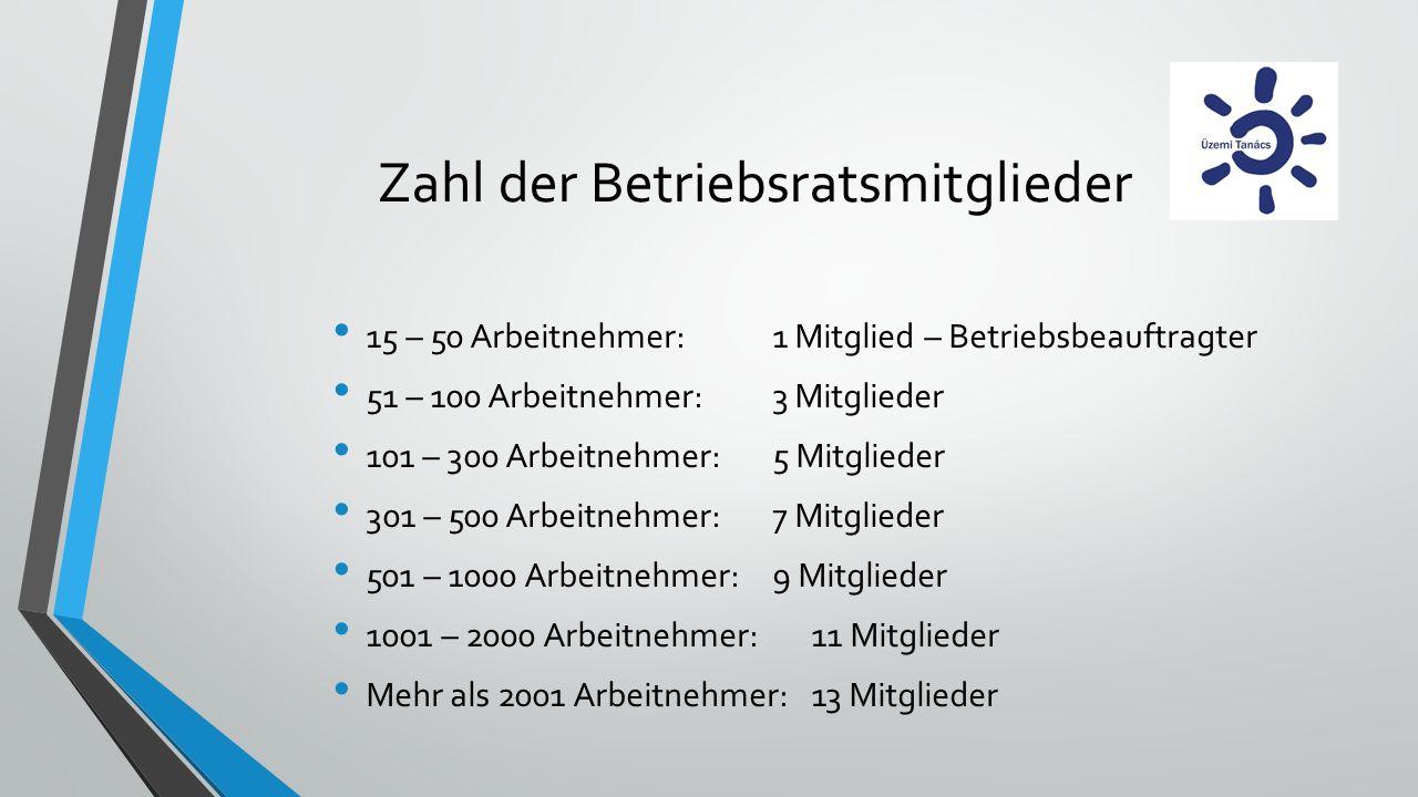 Zahl der Betriebsratsmitglieder