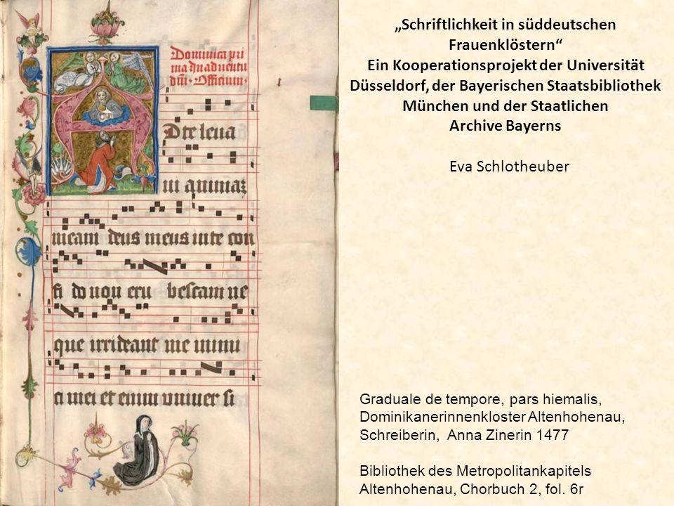 """""""Schriftlichkeit in süddeutschen Frauenklöstern"""