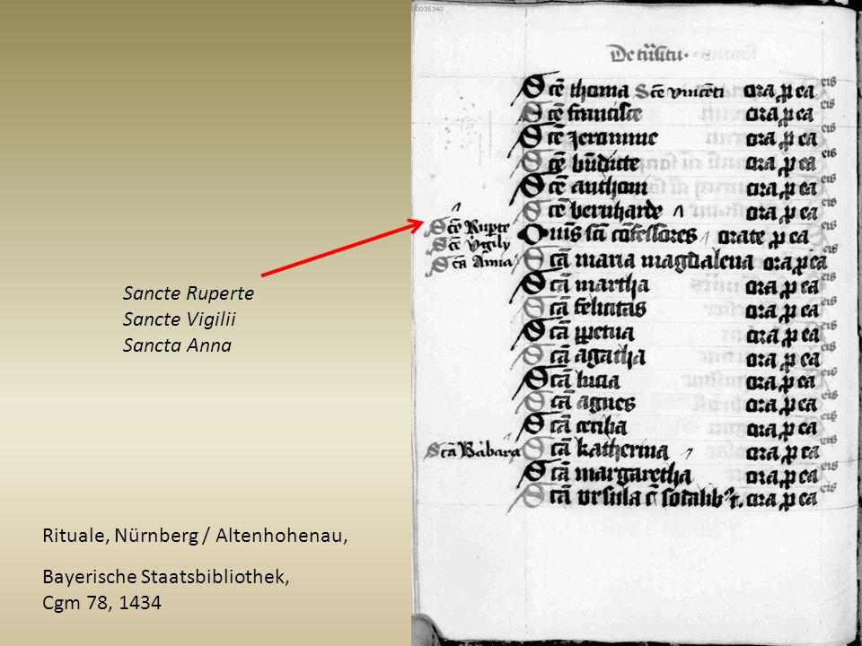 Sancte Ruperte Sancte Vigilii. Sancta Anna. Rituale, Nürnberg / Altenhohenau, Bayerische Staatsbibliothek,