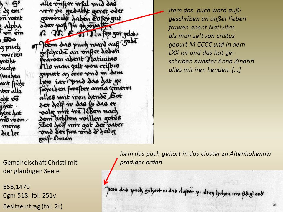 Item das puch ward auß- geschriben an unßer lieben. frawen abent Nativitas. als man zelt von cristus.