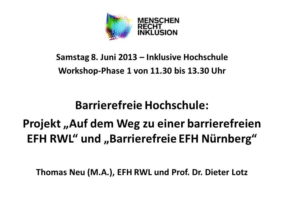 Barrierefreie Hochschule: