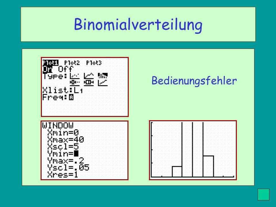 Binomialverteilung Bedienungsfehler
