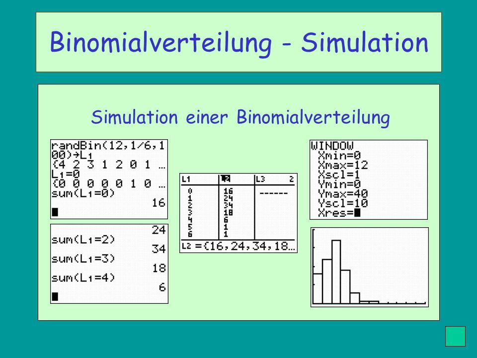Binomialverteilung - Simulation