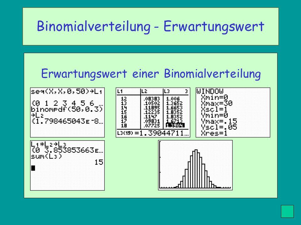 Binomialverteilung - Erwartungswert