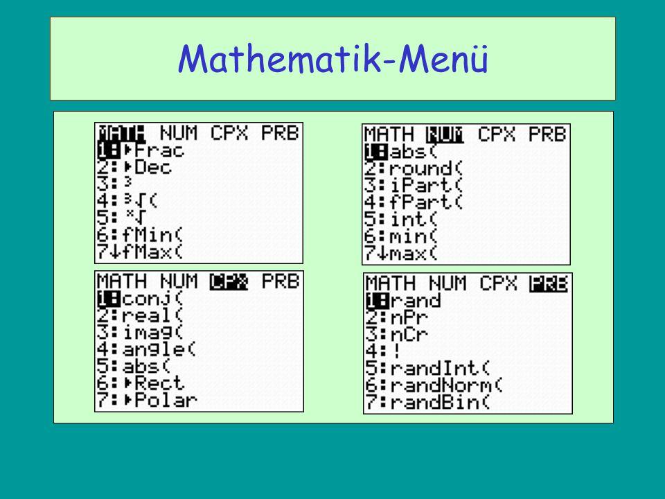 Mathematik-Menü