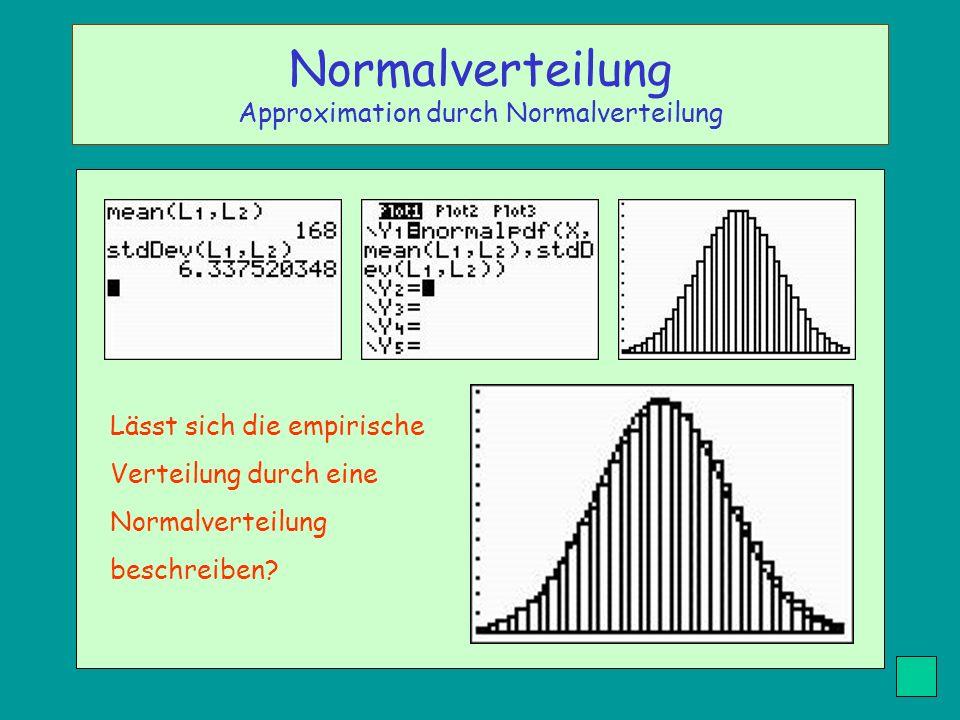 Normalverteilung Approximation durch Normalverteilung