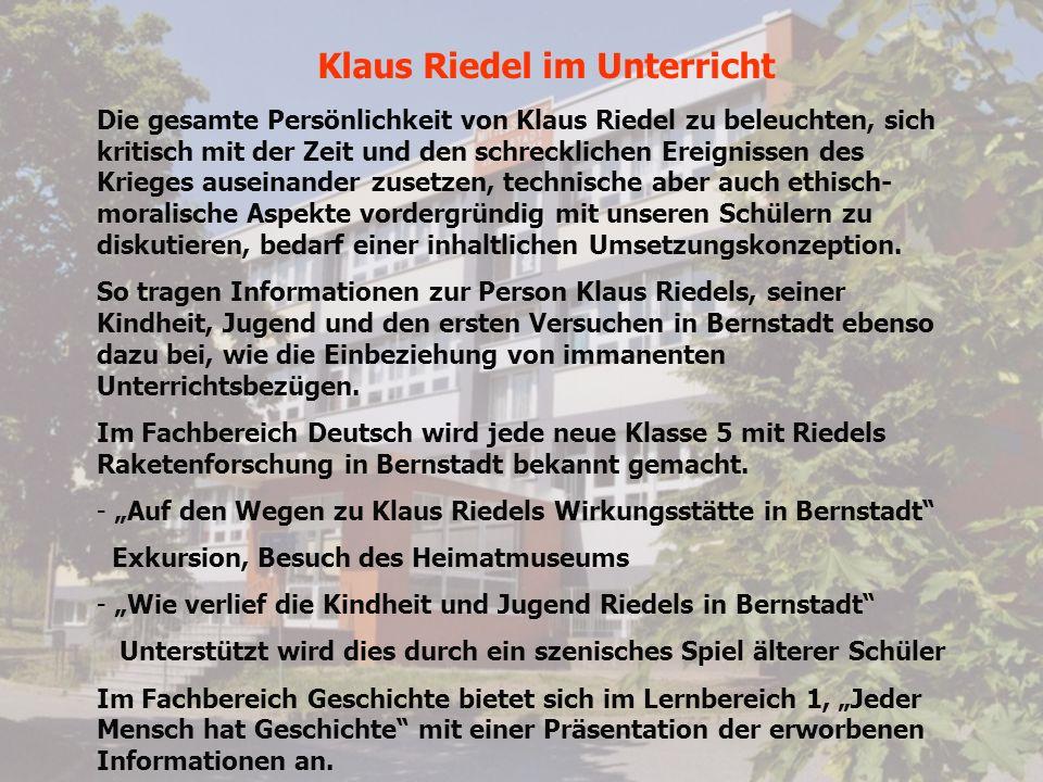 Klaus Riedel im Unterricht