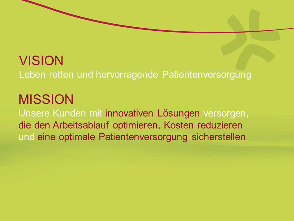 VISION Leben retten und hervorragende Patientenversorgung