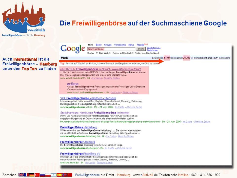 Die Freiwilligenbörse auf der Suchmaschiene Google