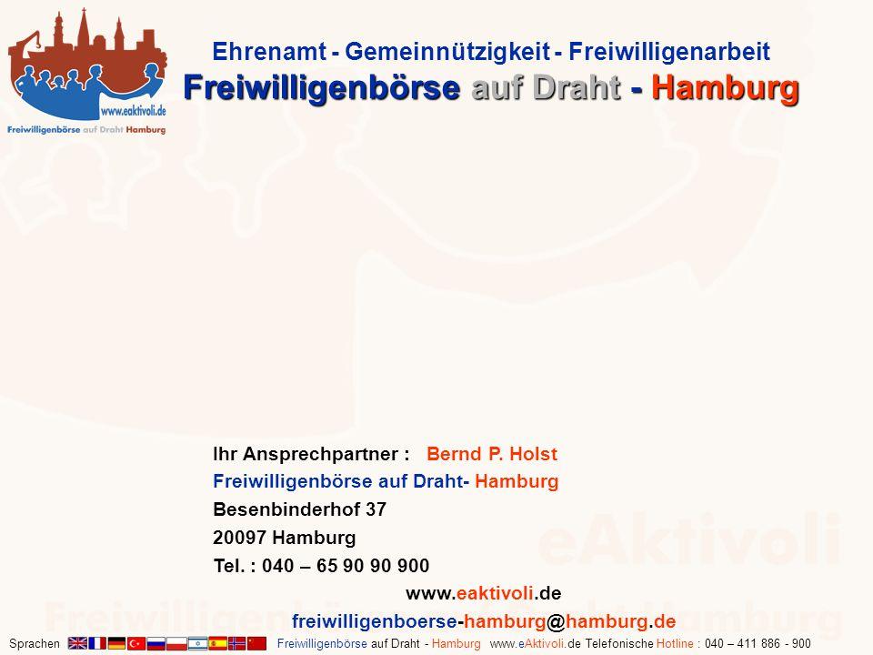 Ehrenamt - Gemeinnützigkeit - Freiwilligenarbeit Freiwilligenbörse auf Draht - Hamburg