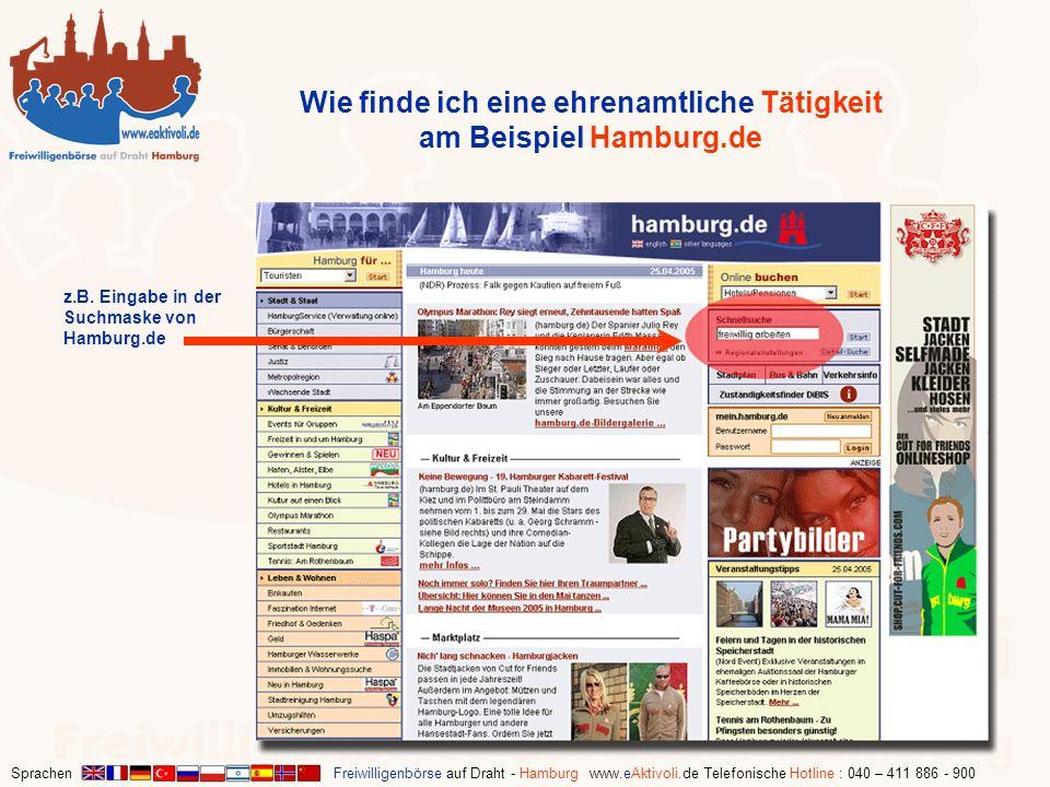 Wie finde ich eine ehrenamtliche Tätigkeit am Beispiel Hamburg.de