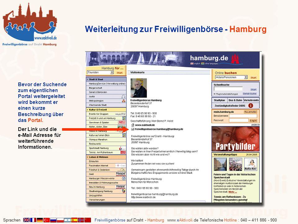 Weiterleitung zur Freiwilligenbörse - Hamburg