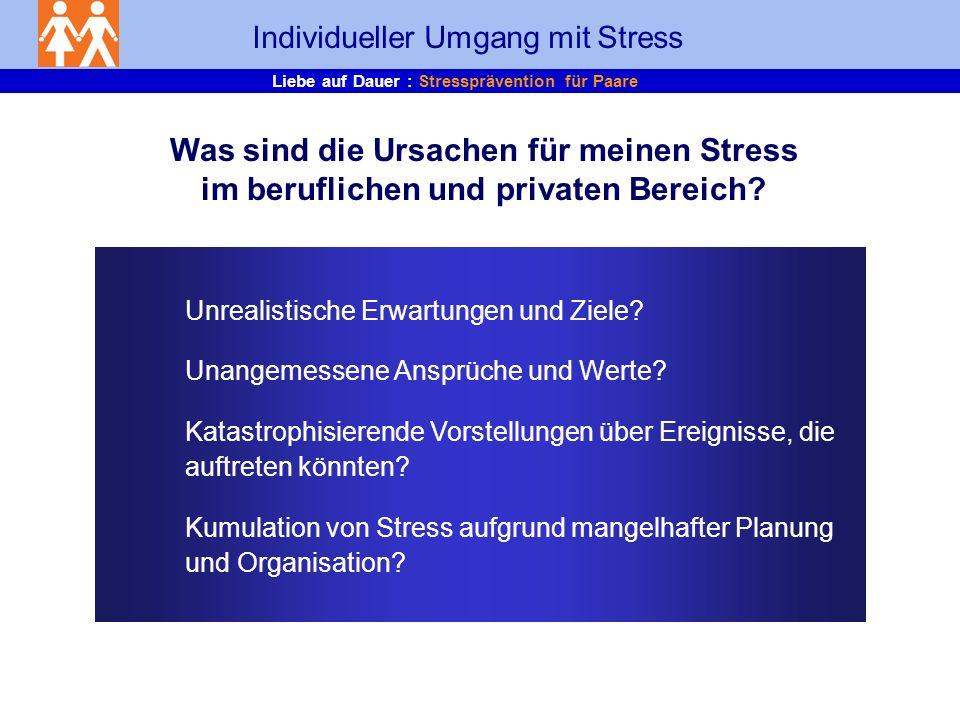 Individueller Umgang mit Stress