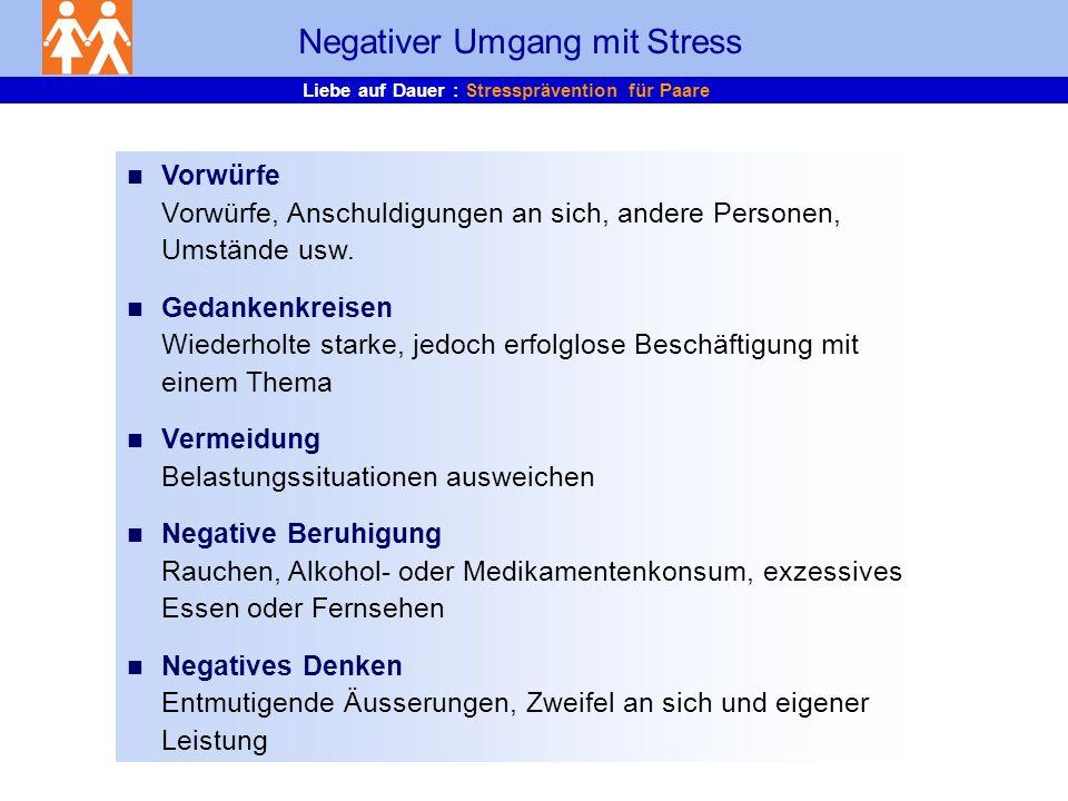 Negativer Umgang mit Stress