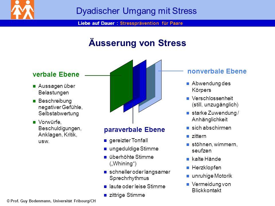 © Prof. Guy Bodenmann, Universität Fribourg/CH