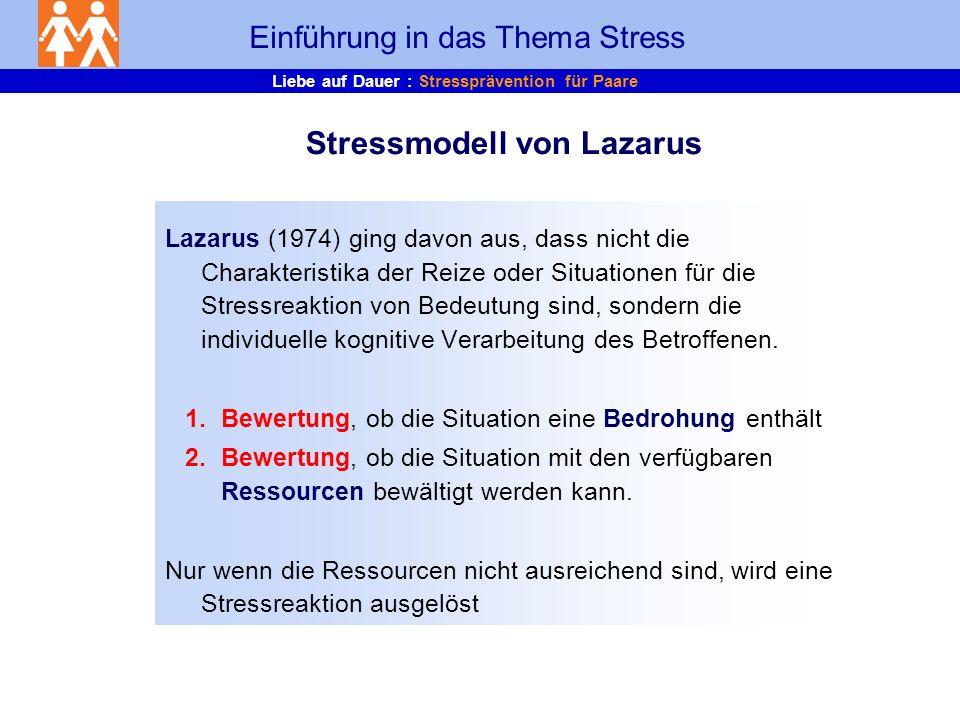 Stressmodell von Lazarus