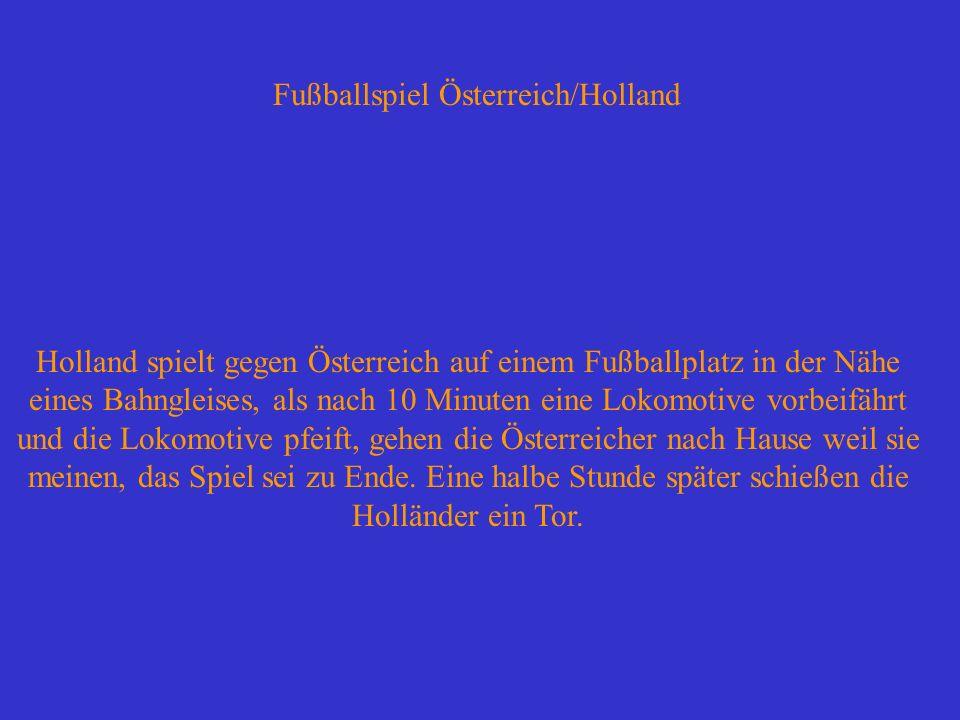 Fußballspiel Österreich/Holland