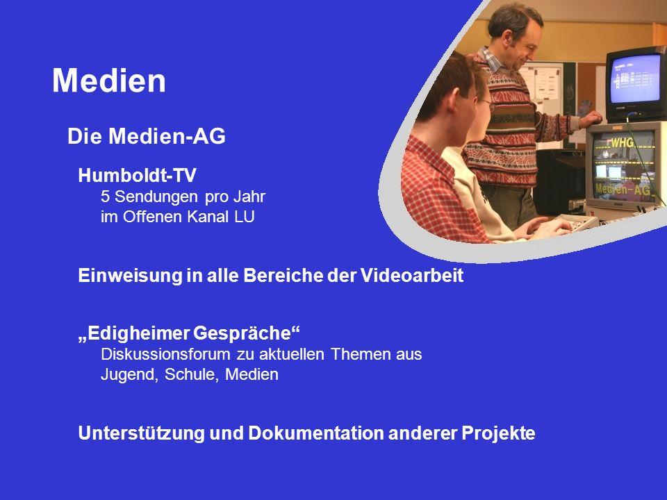 Medien Die Medien-AG Humboldt-TV