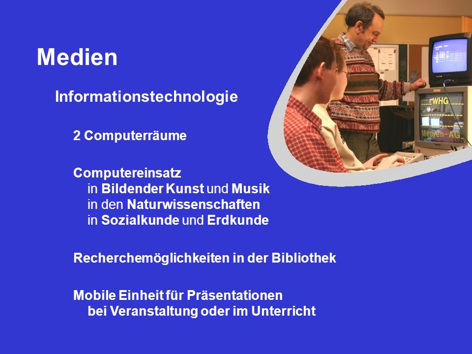 Medien Informationstechnologie 2 Computerräume