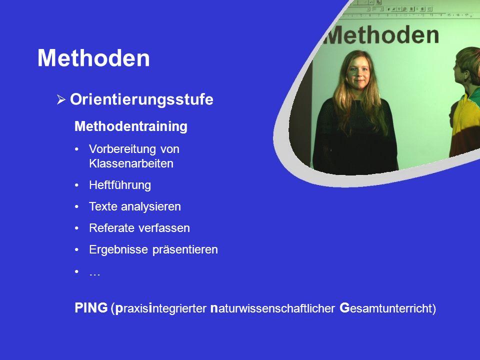 Methoden Orientierungsstufe Methodentraining