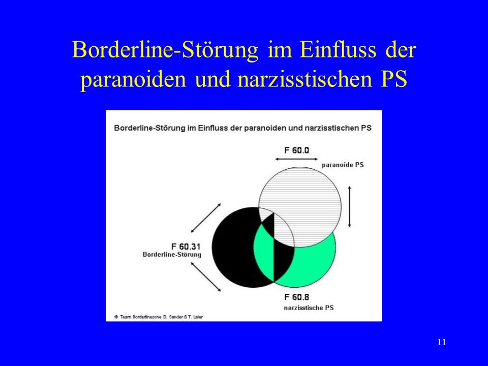 Borderline-Störung im Einfluss der paranoiden und narzisstischen PS