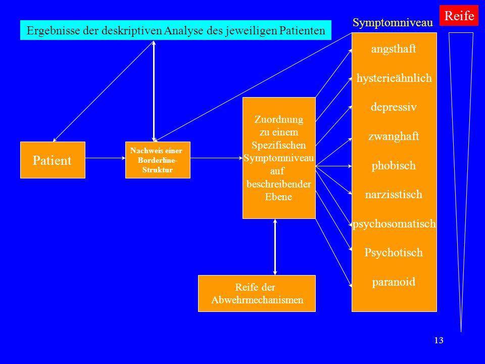 Ergebnisse der deskriptiven Analyse des jeweiligen Patienten