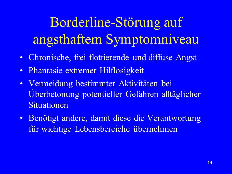 Borderline-Störung auf angsthaftem Symptomniveau