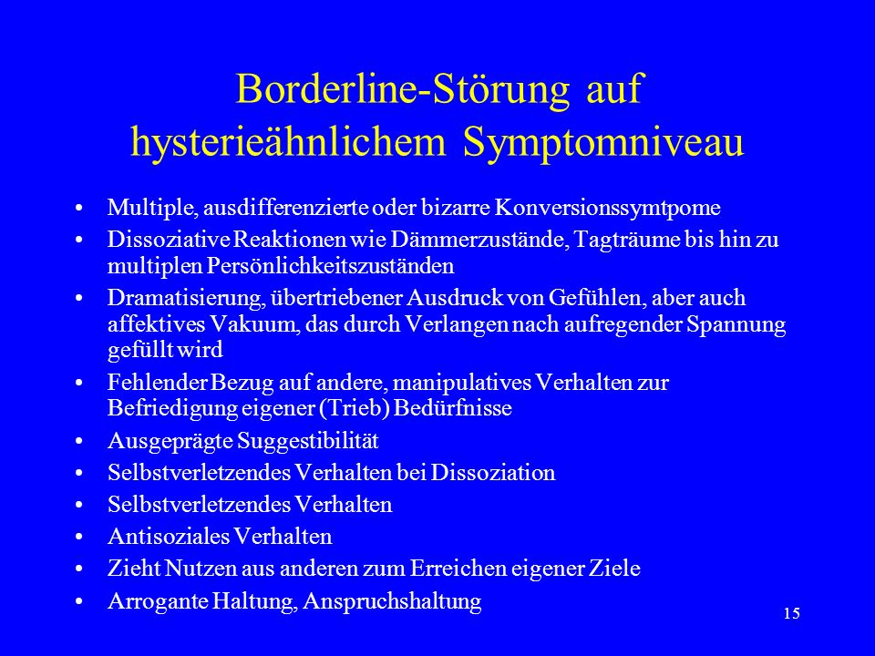 hysteroid borderline