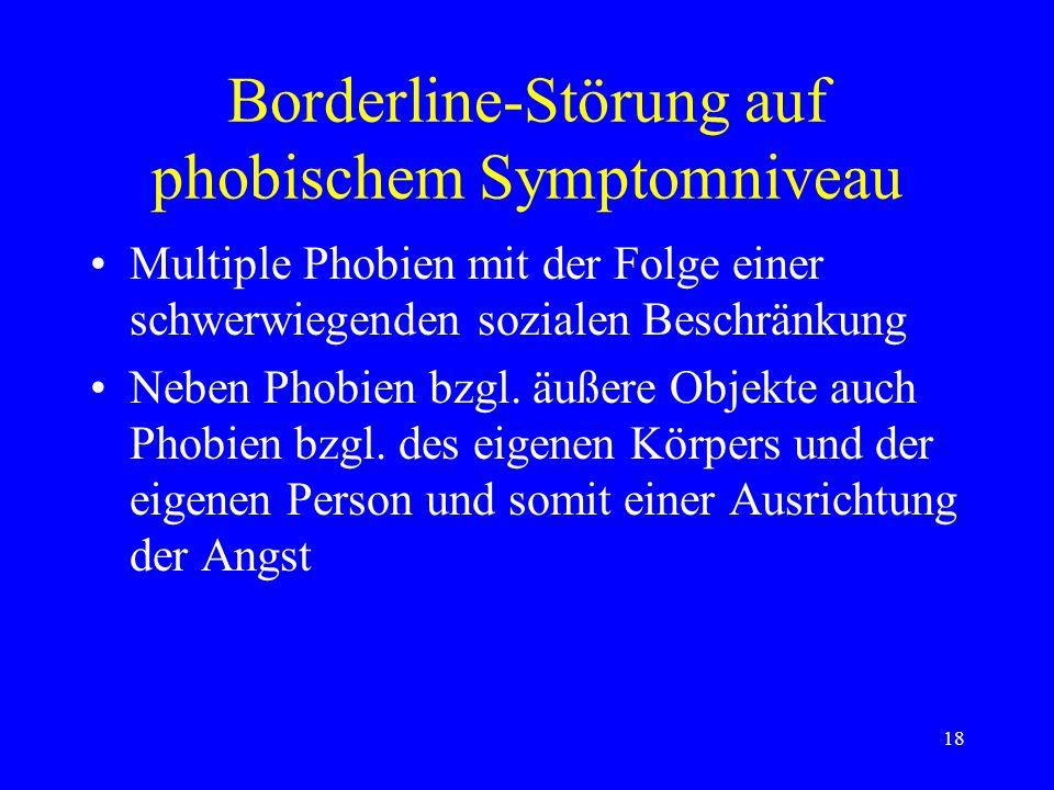 Borderline-Störung auf phobischem Symptomniveau