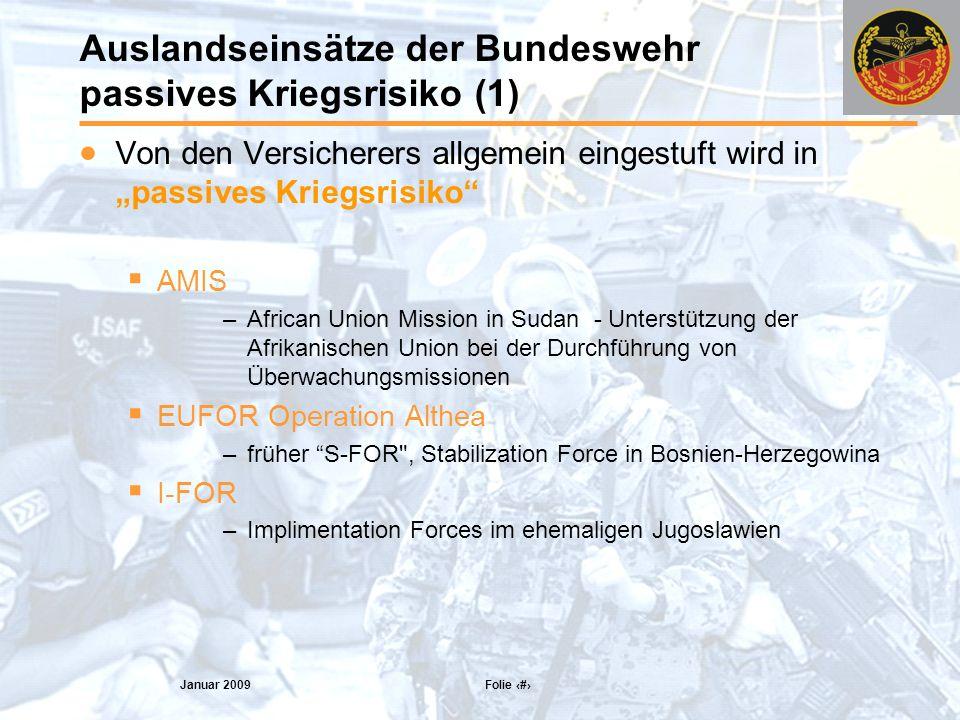 Auslandseinsätze der Bundeswehr passives Kriegsrisiko (1)