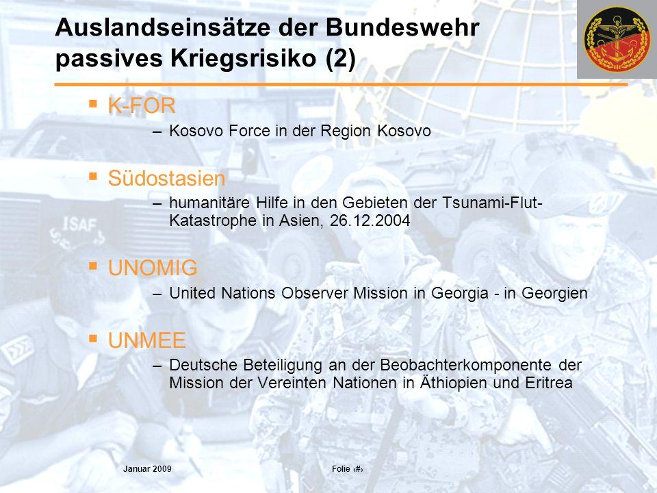 Auslandseinsätze der Bundeswehr passives Kriegsrisiko (2)
