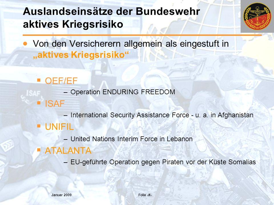 Auslandseinsätze der Bundeswehr aktives Kriegsrisiko