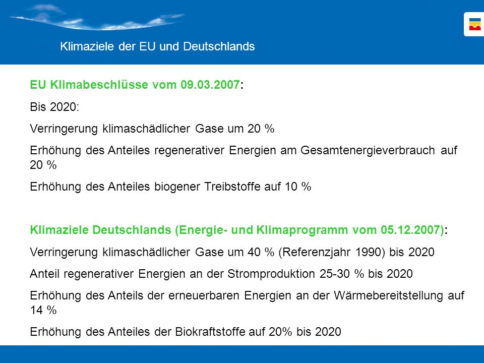 Klimaziele der EU und Deutschlands
