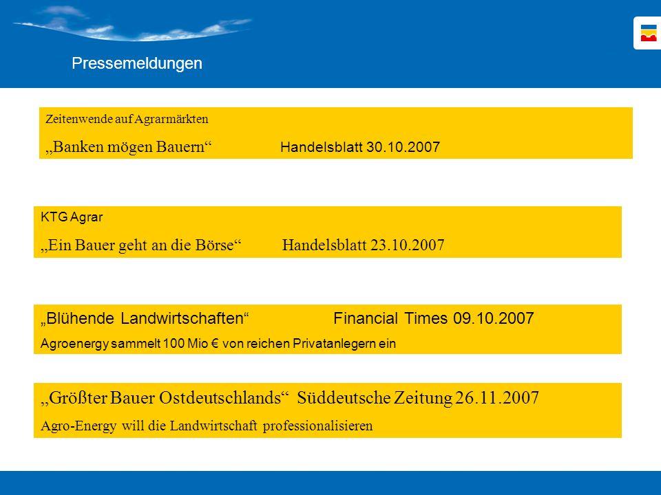 """""""Größter Bauer Ostdeutschlands Süddeutsche Zeitung 26.11.2007"""
