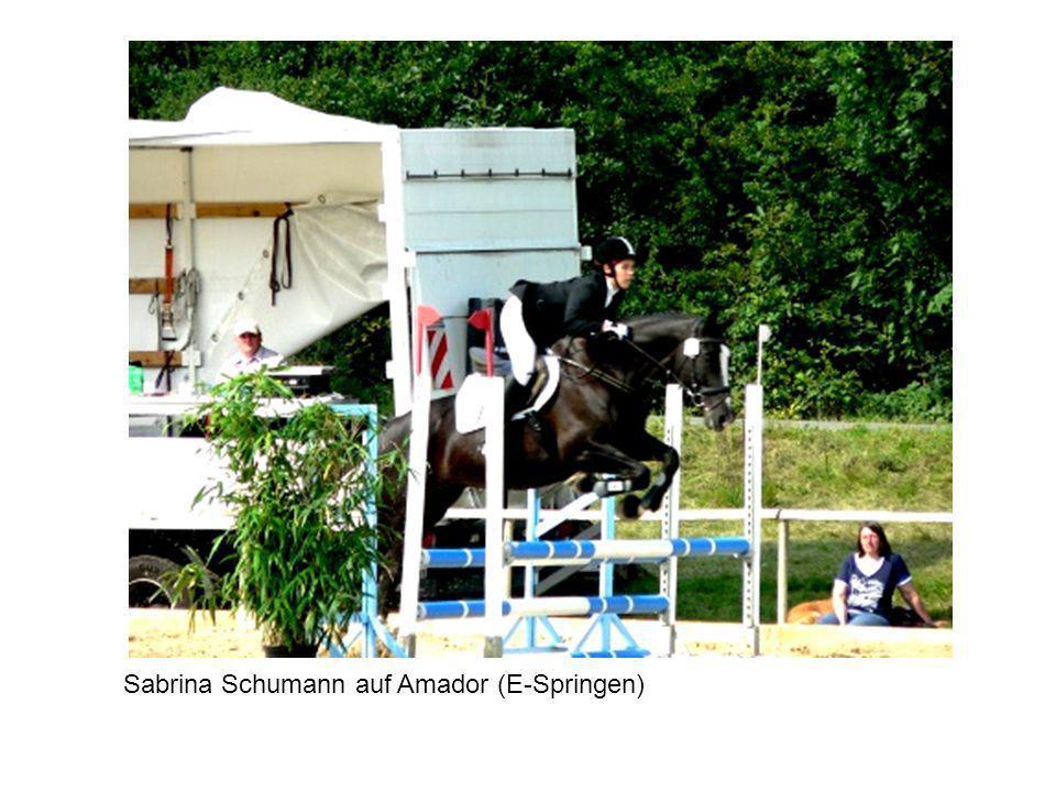 Sabrina Schumann auf Amador (E-Springen)