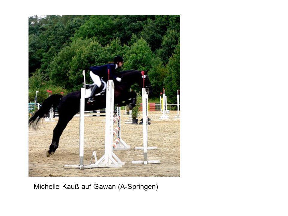 Michelle Kauß auf Gawan (A-Springen)
