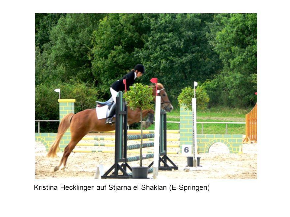 Kristina Hecklinger auf Stjarna el Shaklan (E-Springen)