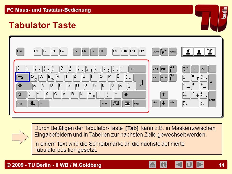 Tabulator Taste