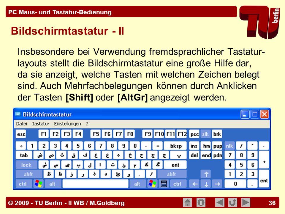 Bildschirmtastatur - II