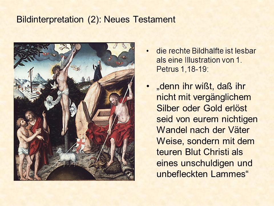 Bildinterpretation (2): Neues Testament